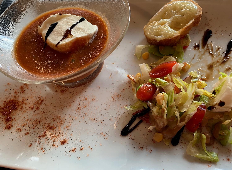 Gaspacho tomates courgette cabecou ©TB/laradiodugout.fr