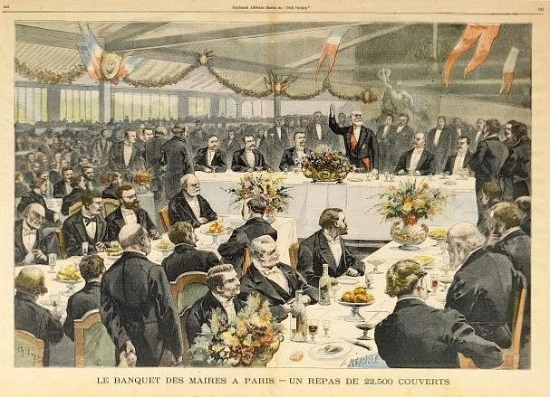 Banquet des maires 1900 à Paris. 22500 couverts