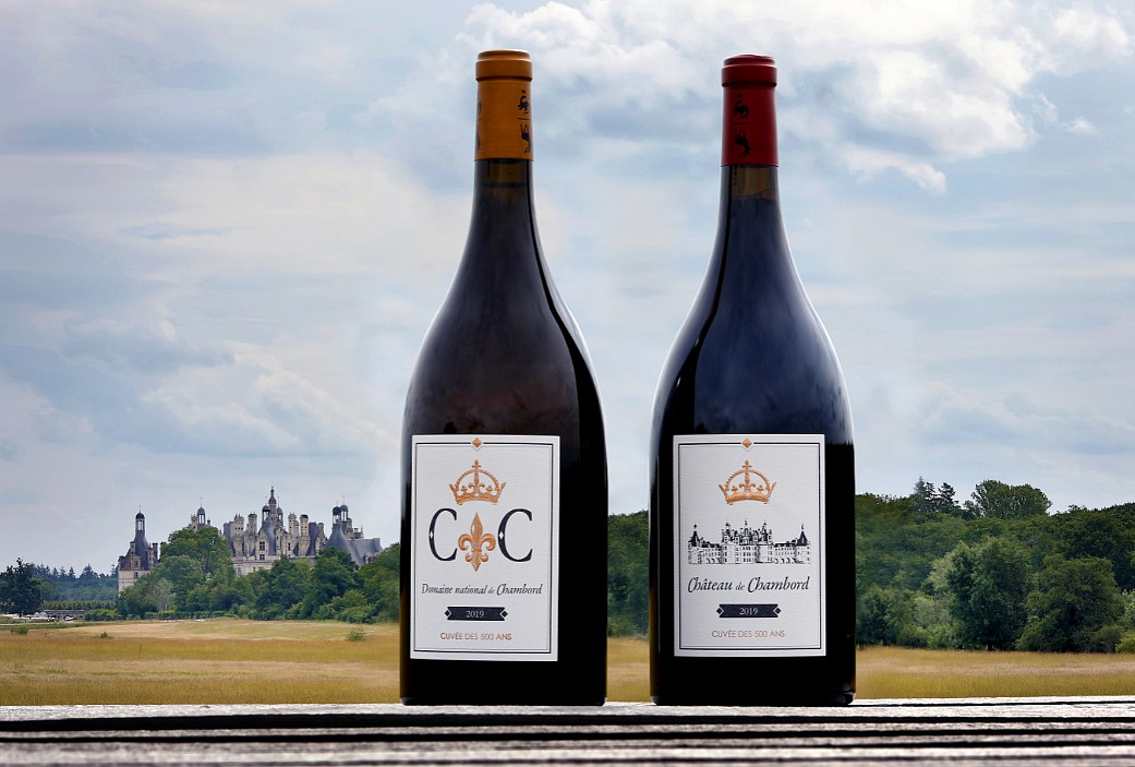 les bouteilles et le château ©Domaine national de Chambord - Olivier Marchant