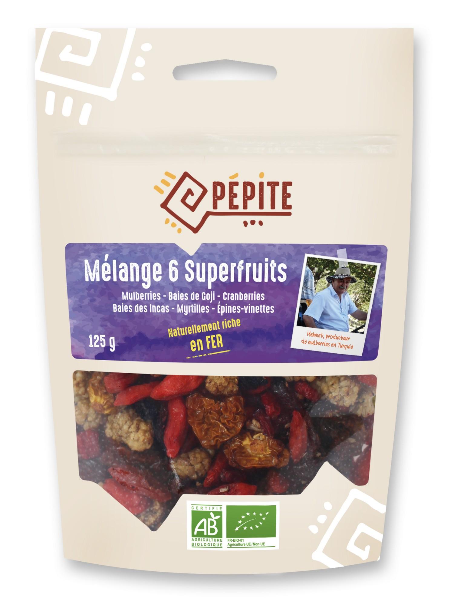 Mélange 6 superfruits 125 g Pépite