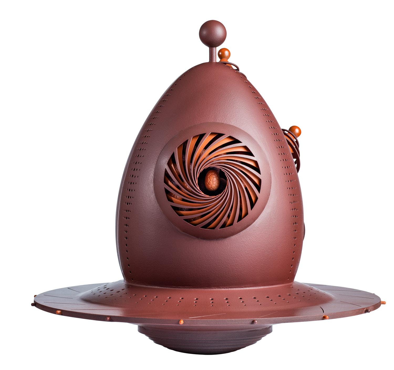 Œuf OVNI Œuf Volant Non Identifié La Maison du Chocolat Pâques 2021 (dos)