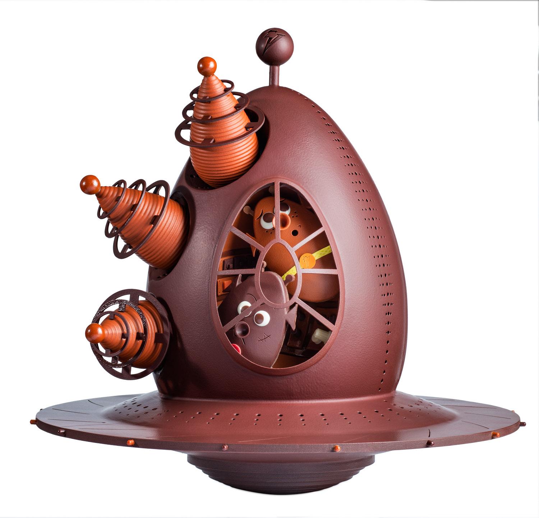 Œuf OVNI Œuf Volant Non Identifié La Maison du Chocolat Pâques 2021 (face)