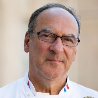 July 24, 2012, PARIS, FRANCE The Club of Leaders' Chefs, heads of the kitchen of presidents house around the world, is visiting francois hollande, french president, at the palais de l'ÈlysÈe. Bernard Vaussion, chef de l'Elysee