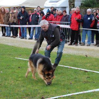 André Bost et son chien Gost