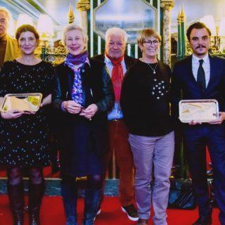 De gauche à droite sur la photo: Manuel Mariani, Jean-Yves Laurent-Lefèvre, Camille Labro (Lauréate catégorie Gastronomie), Anne Fracheboud (Co-propriétaire Les Noces de Jeannette), Jean-Claude Mariani, Claire Delbos, Gwilherm de Cerval (Lauréat catégorie Vin), Rémi Dechambre.